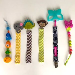 Pacifier Clips. Choose 1 for $ 10. Or all for $30